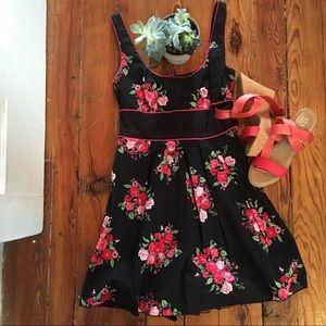 CHARLOTTE RUSSE Black & Floral Dress